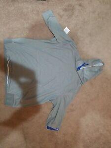 Nike Chicago Cubs Flux 3/4 Game Hoodie MLB Men's Dark Grey Heather DRI-FIT XXL