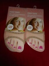 2 Pair Womens Peep Toes Cover Nude Nylon Slings Mules Sandals Non Slip 4-10 USA