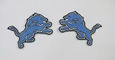 (1) LOT OF NFL DETROIT LIONS LOGOS RIGHT & LEFT PATCHES FACING EA. OTHER IT. #18
