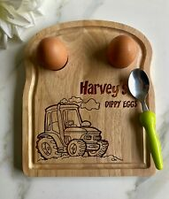 Personalised Name Tractor - Egg Breakfast Board Easter Gift