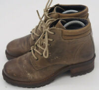Taos Womens Ringer 16106 Sz 9 - 9.5 M Gray/Brown Lace Up Ankle Combat Boots EUC