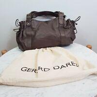 [ GERARD DAREL] Womens Brown Leather Sac 24h Shoulder Bag / Handbag