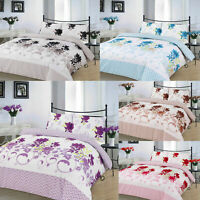 Bethany Duvet cover with pillowcase bedding set Single Double king S.King Size