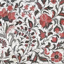 Lot de 4 Serviettes en papier Armoiries Fleurs Decoupage Collage Decopatch