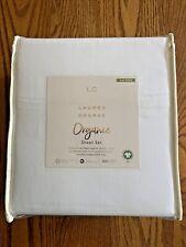 Lc Lauren Conrad 300 Tc White Organic Cotton Sateen Cal King Sheet Set Nip