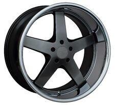 XXR 968 17X9 5x114.3mm +35 Chromium Black Wheels Fits 350z G35 240sx Rx8 Rx7