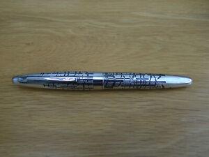 Rare Vintage Pilot Art Craft Silvern Fuyu-kodachi Sterling Silver Fountain Pen