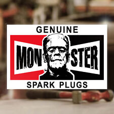 Monster Spark Plugs sticker decal old school rat hot rod MOON 2.75""