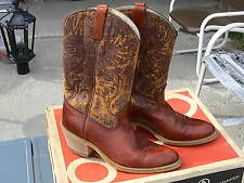 Vintage Cowboy Boots Brown Leather Rockabilly Style Mens 10D by Acme Dingo 1970s