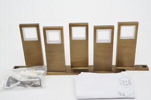 New 5 Pack West Elm Carbon Brass Rod Wall Brackets ONLY for Square Curtain Rod