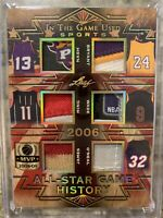2019 Leaf 1/1 In The Game Used Patch Lebron, Kobe, Wade, Nash, Shaq, Ming  Wow!!