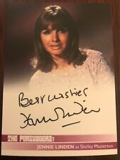 THE PERSUADERS!: AUTOGRAPH CARD: JENNIE LINDEN AS SHELLEY MASTERTON - BLACK INK