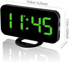 Sveglia Display a Led Lbsel 2 porte di ricarica USB Orologio con Specchio
