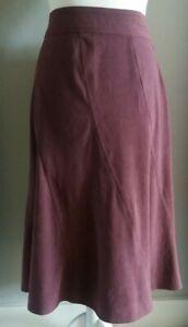 EWM pure classics woman's purple midi Aline skirt - size 18 uk - Office - Casual