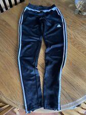 Adidas Womens Climacool Soccer/Track/Jogger Pants Black W/White Stripes Size Xs