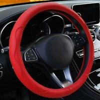 38cm Auto Car Red Steering Wheel Cover Protector PU Leather Anti-skid 8 Colors v