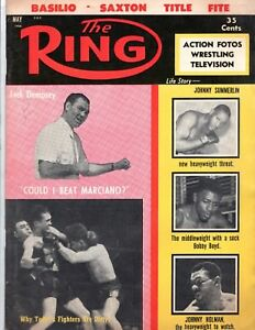 The RING May 1956 DEMPSEY Marciano BASILIO BOXING WRESTLING Vintage Magazine