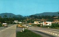 VINTAGE POSTCARD MAIN HIWAY ENTRANCE TO VISTA CALIFORNIA c. 1970's ADVERTISING