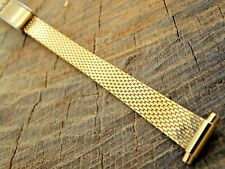 "Band 10mm-13mm Sliding Clasp 7"" Long Vintage Nos Unused Speidel Stainless Watch"