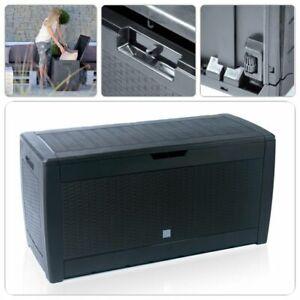 Garten Aufbewahrungsbox Auflagenbox Gartentruhe Kissenbox Gartenbox Rattan Optik