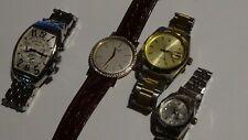 wholesale LOT of 4 Costume FAUX watches mechanical and quartz PARTS