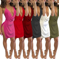 Women's Bandage Bodycon Sleeveless Evening Party Cocktail Club Mini Dress D2L6