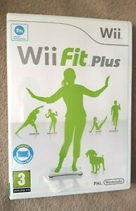 WII FIT PLUS Nintendo Wii uk pal Game - Fitness Workout, no board DISC MINT