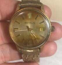 Benrus Mens Automatic Watch 17j, Runs~Needs Crystal