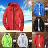 Men's Hooded Outwear Bomber Jacket Coat Windbreaker Sport Autumn Sun Protection