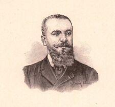 Portrait Pierre Franc Lamy Clermont-Ferrand Puy de Dôme Peinture Peintre