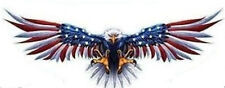 EAGLE FLYING WINGS USA FLAG  TOOL BOX HELMET BUMPER STICKER DECAL MADE IN USA