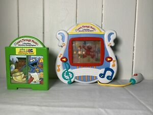 2002 Mattel LEARN THROUGH MUSIC Educational Toy & 2 Elmo Games All About Numbers