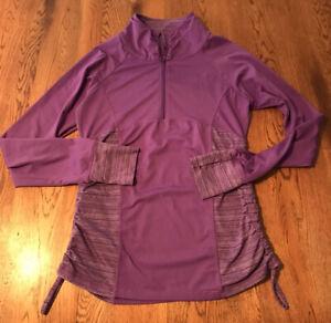 Head Purple Running  1/4 Zip Jacket Long Sleeve Women's Size S