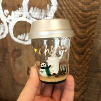 Starbucks Crystal Ball 2018 Christmas China Elemental Panda Ornament