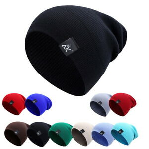 Men Women Knit Baggy Beanie Winter Warm Hat Ski Slouchy Chic Knitted Caps s/l·