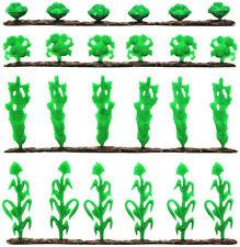 Marx Recast 54mm Farm Crop Set - 1990s production - 28-pieces unpainted plastic