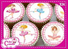 24 X HAPPY BIRTHDAY BALLET DANCER  EDIBLE CUPCAKE TOPPERS CAKE RICE PAPER 9690
