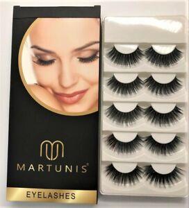 5 Pairs Natural Mink Short Eyelashes Handmade Eye Lashes Makeup Set Faux Mink