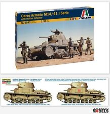 CARRO ARMATO M14/41 I SERIE Whit Italian Infantry Italeri No.6543 1/35 Model Kit