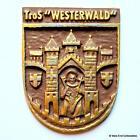Tros FGS Westerwald -German Navy Deutsche Marine Ship Tampion Plaque Badge Crest