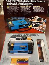 Fisher-Price 810 Kids Kodak 110 Film Blue Camera w/ Box & Foam 1984 Made In USA.