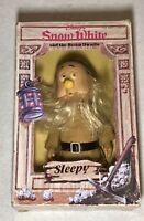 """Vintage 1980s Walt Disney's Snow White 6.5"""" Sleepy Dwarf Figure Used Good"""