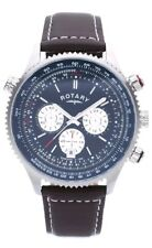 Rotary Men's Stainless Steel Chronograph Leather Strap Watch GS03642/06. New. 90
