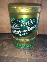 Boston's Mint In Tea Bags 2.5 OZ -TIN- VINTAGE. BOSTON TEA COMPANY