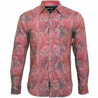 Replay Paisley Print Men's Shirt, Pink
