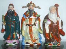 VINTAGE ! Pre-own  70s' Chinese Porcelain Statue Fu Lu Shou 福禄寿
