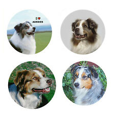 Australian Shepherd Magnets: 4 Cool Aussies for your Collection-A Great Gift