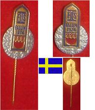 WINTERSPORT SKI NORDISCH ABZEICHEN BADGE FIS WM WC CHAMPIONSHIPS FALUN 1974
