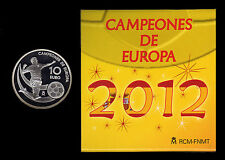 MONEDA CONMEMORATIVA . CAMPEONES DE EUROPA 2012 . 10 € PLATA .