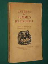 Lettres de femmes du XIXe siècle Comtesse JEAN De PANGE